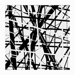 Black and white abstract design Medium Glasses Cloth (2-Side)