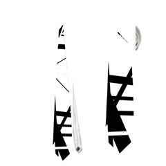Black and white abstract design Neckties (One Side)