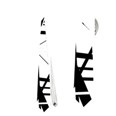 Black and white abstract design Neckties (Two Side)