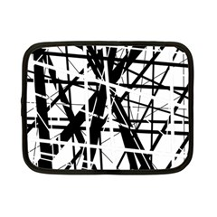 Black and white abstract design Netbook Case (Small)