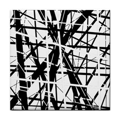Black and white abstract design Face Towel