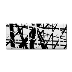 Black and white abstract design Hand Towel
