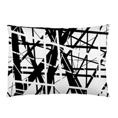 Black and white abstract design Pillow Case