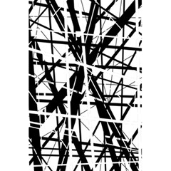 Black and white abstract design 5.5  x 8.5  Notebooks