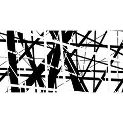 Black and white abstract design YOU ARE INVITED 3D Greeting Card (8x4)