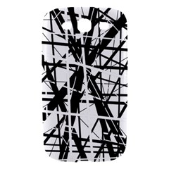 Black and white abstract design Samsung Galaxy S III Hardshell Case