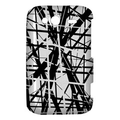 Black and white abstract design HTC Wildfire S A510e Hardshell Case