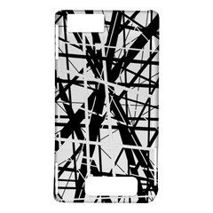 Black and white abstract design Motorola DROID X2