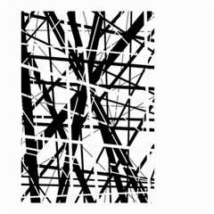 Black and white abstract design Small Garden Flag (Two Sides)
