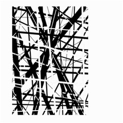 Black and white abstract design Large Garden Flag (Two Sides)