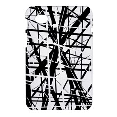Black and white abstract design Samsung Galaxy Tab 7  P1000 Hardshell Case