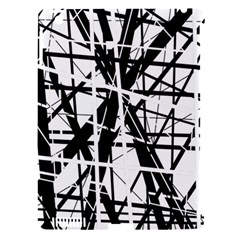Black and white abstract design Apple iPad 3/4 Hardshell Case (Compatible with Smart Cover)