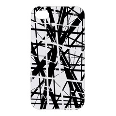 Black and white abstract design Apple iPhone 4/4S Premium Hardshell Case
