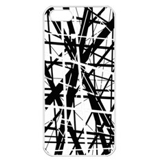 Black and white abstract design Apple iPhone 5 Seamless Case (White)