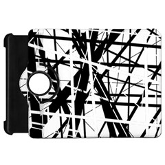 Black and white abstract design Kindle Fire HD Flip 360 Case