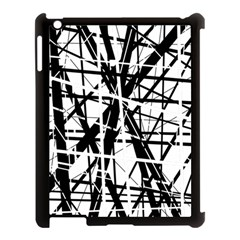 Black and white abstract design Apple iPad 3/4 Case (Black)