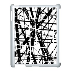 Black and white abstract design Apple iPad 3/4 Case (White)