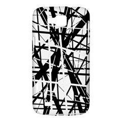 Black and white abstract design Samsung Galaxy Premier I9260 Hardshell Case