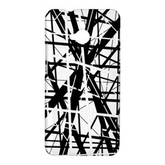 Black and white abstract design HTC One M7 Hardshell Case