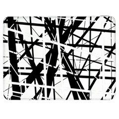 Black and white abstract design Samsung Galaxy Tab 7  P1000 Flip Case
