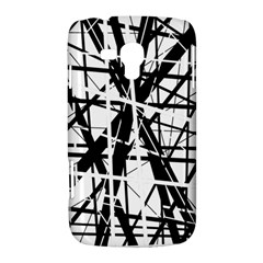 Black and white abstract design Samsung Galaxy Duos I8262 Hardshell Case