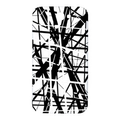 Black and white abstract design Samsung Note 2 N7100 Hardshell Back Case