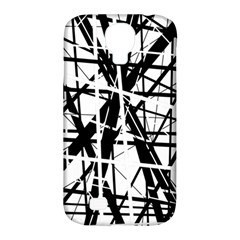 Black and white abstract design Samsung Galaxy S4 Classic Hardshell Case (PC+Silicone)
