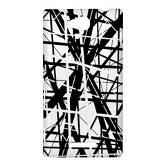 Black and white abstract design Sony Xperia C (S39H)