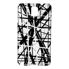 Black and white abstract design Samsung Galaxy Note 3 N9005 Hardshell Case