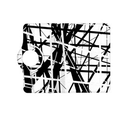 Black and white abstract design Kindle Fire HD (2013) Flip 360 Case