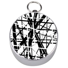 Black and white abstract design Silver Compasses