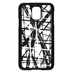 Black and white abstract design Samsung Galaxy S5 Case (Black)