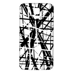 Black and white abstract design Samsung Galaxy S5 Back Case (White)