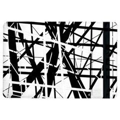 Black and white abstract design iPad Air 2 Flip