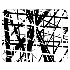 Black and white abstract design Double Sided Flano Blanket (Medium)
