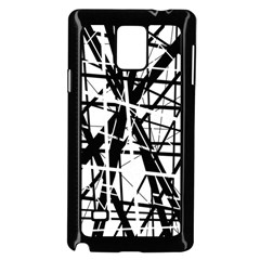 Black and white abstract design Samsung Galaxy Note 4 Case (Black)