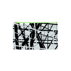 Black and white abstract design Cosmetic Bag (XS)