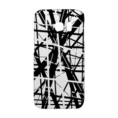 Black and white abstract design Galaxy S6 Edge