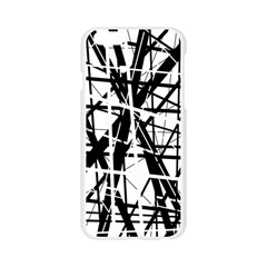 Black and white abstract design Apple Seamless iPhone 6/6S Case (Transparent)