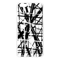 Black and white abstract design Apple Seamless iPhone 6 Plus/6S Plus Case (Transparent)