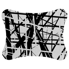Black and white abstract design Jigsaw Puzzle Photo Stand (Bow)