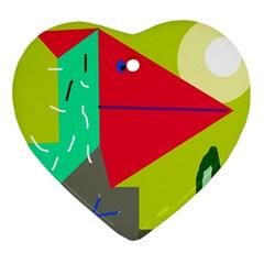 Abstract bird Ornament (Heart)