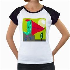 Abstract bird Women s Cap Sleeve T