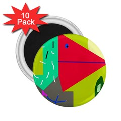 Abstract bird 2.25  Magnets (10 pack)