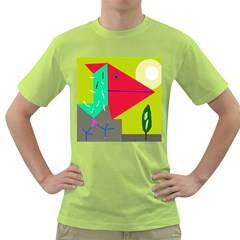 Abstract bird Green T-Shirt