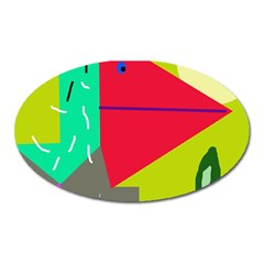 Abstract bird Oval Magnet
