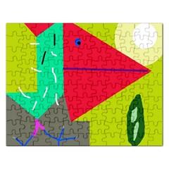 Abstract bird Rectangular Jigsaw Puzzl