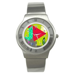 Abstract bird Stainless Steel Watch