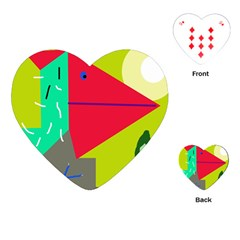 Abstract bird Playing Cards (Heart)