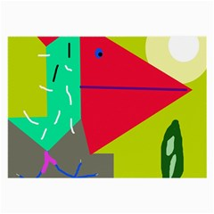 Abstract bird Large Glasses Cloth (2-Side)